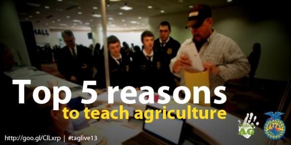 teach ag_top 5 reasons