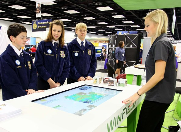 FFA members in the National FFA Expo.