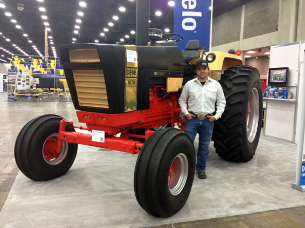 Ryan Haass of the Devine, Texas FFA Chapter went for two wins in a row when he took home the Grand Champion title in the 2012 Delo Tractor Restoration Competition with the restoration of a 1970 Case 1070.