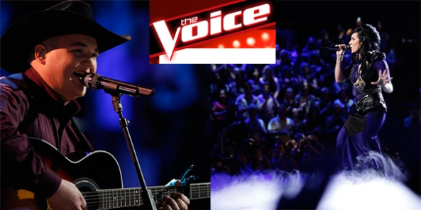 NBC's The Voice contestants Jake Worthington (left) and Kat Perkins (right) have FFA ties. (Photos by NBC)
